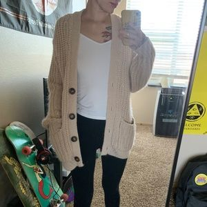 Thick Chunky Knit Oversized Cardigan